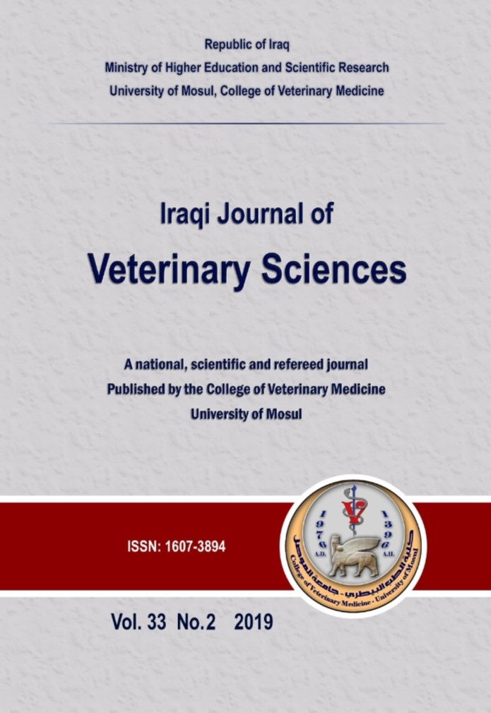Iraqi Journal of Veterinary Sciences